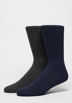 SNIPES Fashionsocke Nope 2er Pack d.grey/navy
