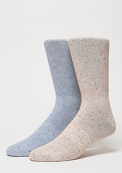 Fashionsocke Nope 2er Pack l.blue/rose