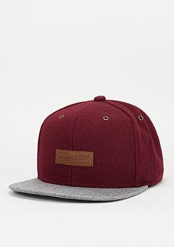 Snapback-Cap Prime burgundy