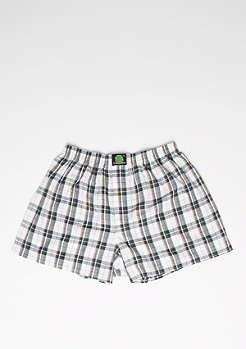 Boxershort Plaid white/blue/green