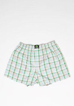 Boxershorts Plaid green/light blue/white