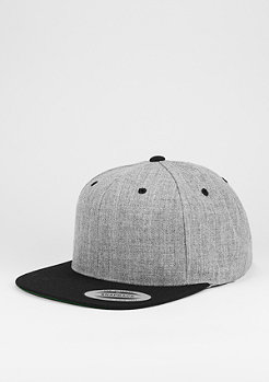 Snapback-Cap Classic 2-Tone heather grey/black