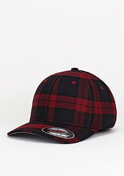 Baseball-Cap Tartan Plaid black/red