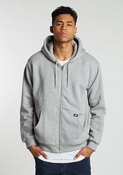 Hooded-Zipper Kingsley grey melange