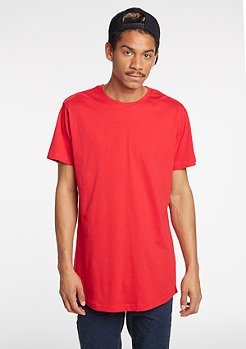 T-Shirt Shaped Long fire red