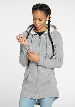 Hooded-Zipper Sweat Parka grey