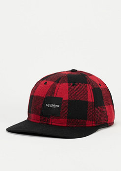 C&S BL Curved Cap Legend red checked/black/off-white
