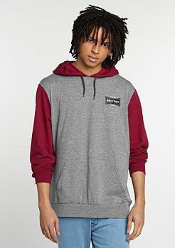 Hooded-Sweatshirt Ramsey heather grey/burgundy