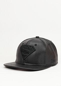 Snapback-Cap Leather Perf Superman black/black