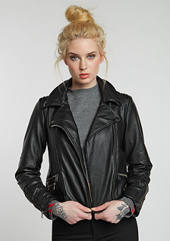 Leatherjacket Biker black/checked