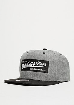 Snapback-Cap Box Logo heather grey/black