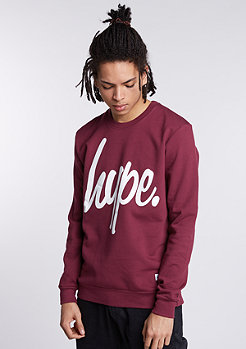 Sweatshirt Hype Script burgundy/white