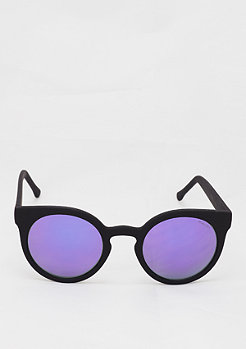 Lulu black rubber/purple mirror