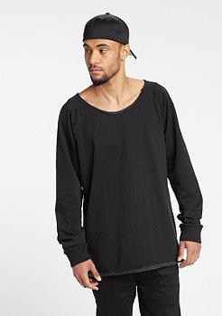 Sweatshirt Long Open Edge Terry black
