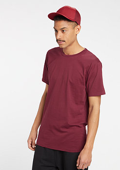 T-Shirt Fitted Stretch burgundy