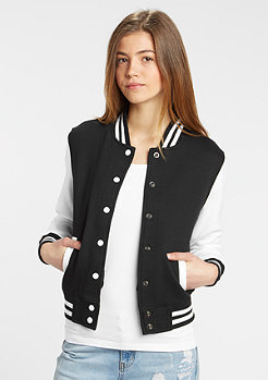 Jacke 2-Tone College Sweatjacket black/white