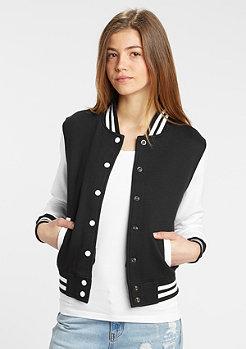 2-Tone College Sweatjacket black/white