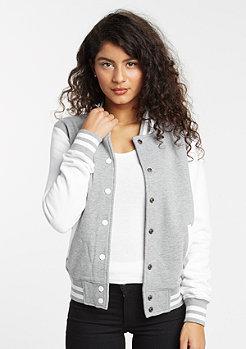 2-Tone College Sweatjacket grey/white