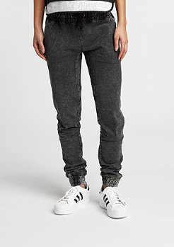 Acid Wash Jogging Pants dark grey