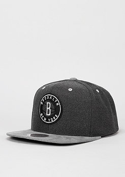 Snapback-Cap Cation Perforated Suede NBA Brooklyn Nets grey