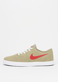 Skateschuh Check khaki/university red/white/black
