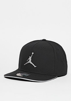 Snapback-Cap Jumpman Perforated black/reflective silver