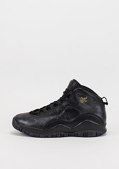 Air Jordan Retro 10 BG black/black/dark grey/metallic gold