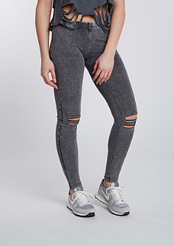 Leggings Cutted Knee acid black