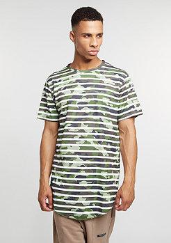 T-Shirt BL Striped Scallop woodland/white