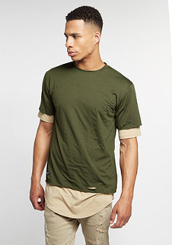 C&S BL Tee Deuces Long Layer olive/sand