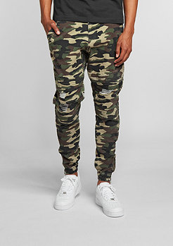 Chino-Hose BL Distressed woodland