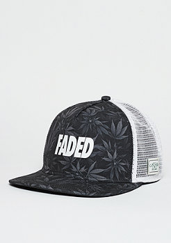 C&S Trucker Cap GL Faded Budz black/grey