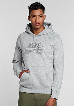 Hooded-Sweatshirt Icon Dots dark grey heather/black