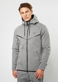 NIKE Trainingsjacke Tech Fleece Windrunner Hoodie carbon heather/black