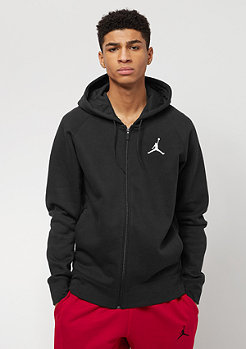 Hooded-Zipper Flight Fleece Full-Zip black/white