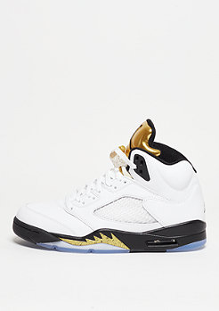 Basketballschuh Air Jordan 5 Retro white/black/metallic gold coin