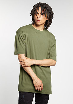Oversized Rip Tee olive