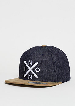 Snapback-Cap Exchange black denim