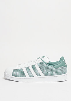 Schuh Superstar white/white/vapour green