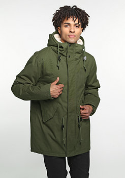 Cotton Parka olive/dark olive