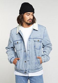 Denim Teddy Jacket blue