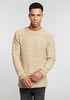 Sweatshirt Knit Crew beige/offwhite