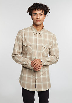 Flannel Shirt beige/taupe