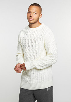 Strickpullover Knit Crew Oversized off white