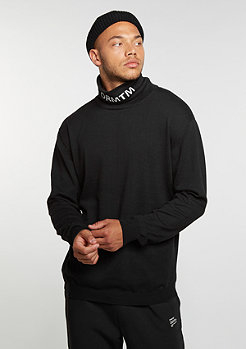 Sweatshirt Knit Crew Turtleneck black