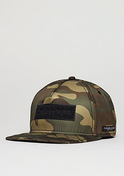 Snapback-Cap BL Flight woodland/black/orange