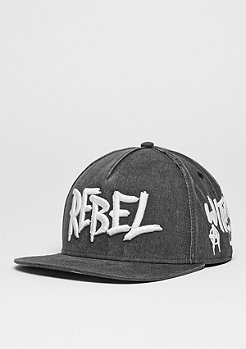 C&S CAP BL Rebel vintage black/woodland/white