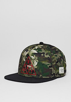 Snapback-Cap WL Briangle camo flowers/black/red