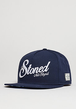 Snapback-Cap GL Not Stupid navy/white