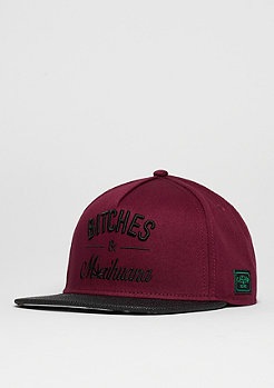 C&S Cap GL B&M maroon/black